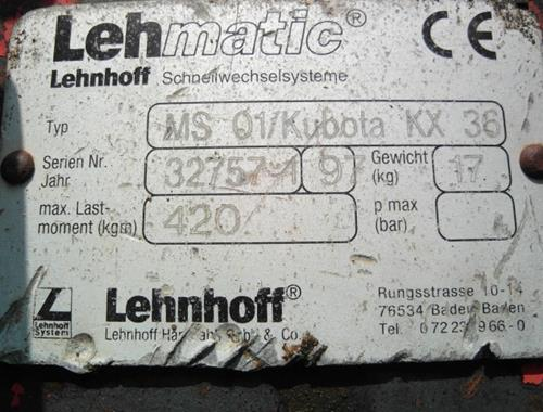 Lehnhoff MS 01 - Parts
